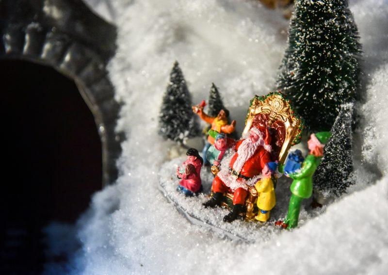 paesaggio Lemax - Babbo Natale