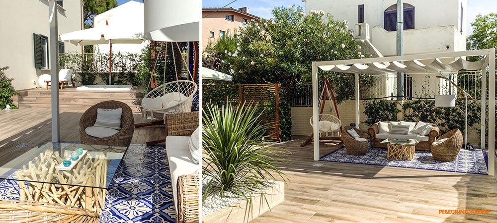 Come realizzare un giardino - zona relax particolare