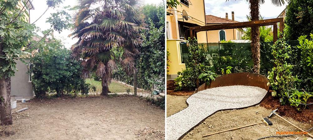 come realizzare un giardino - creare un percorso