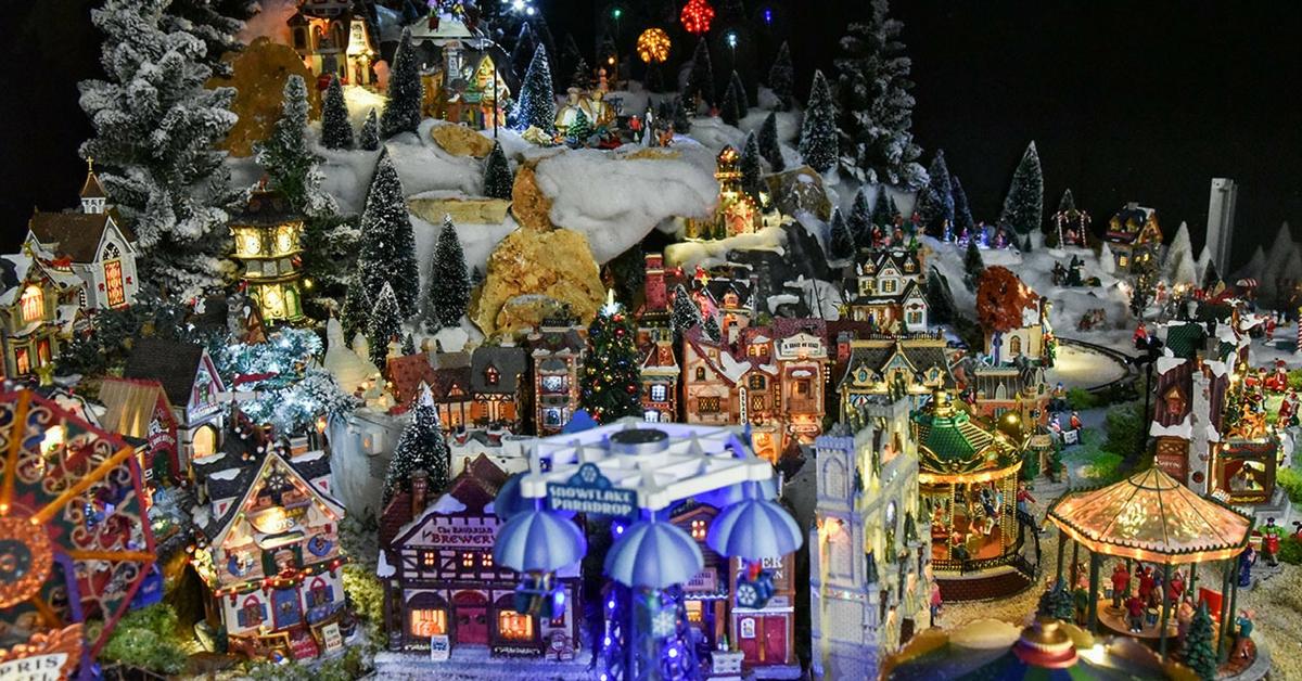 Villaggio Natale.Villaggio Di Natale Lemax Come Costruire Un Presepe Animato