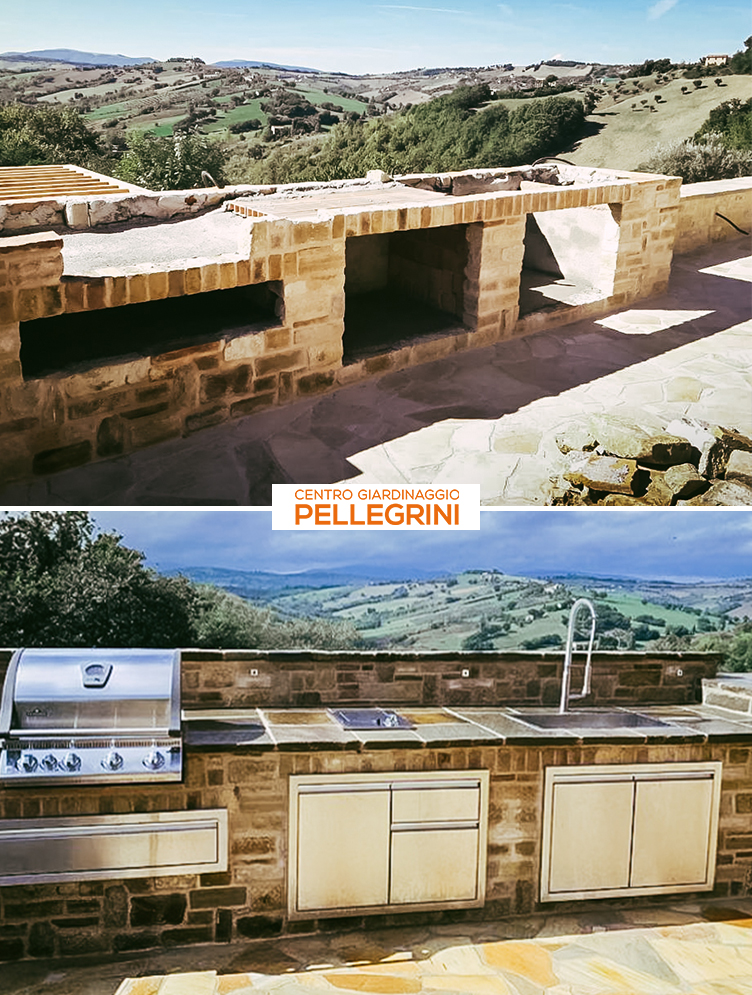 cucina-da-esterno-progetto-Centro-Giardinaggio-Pellegrini-primaVSdopo