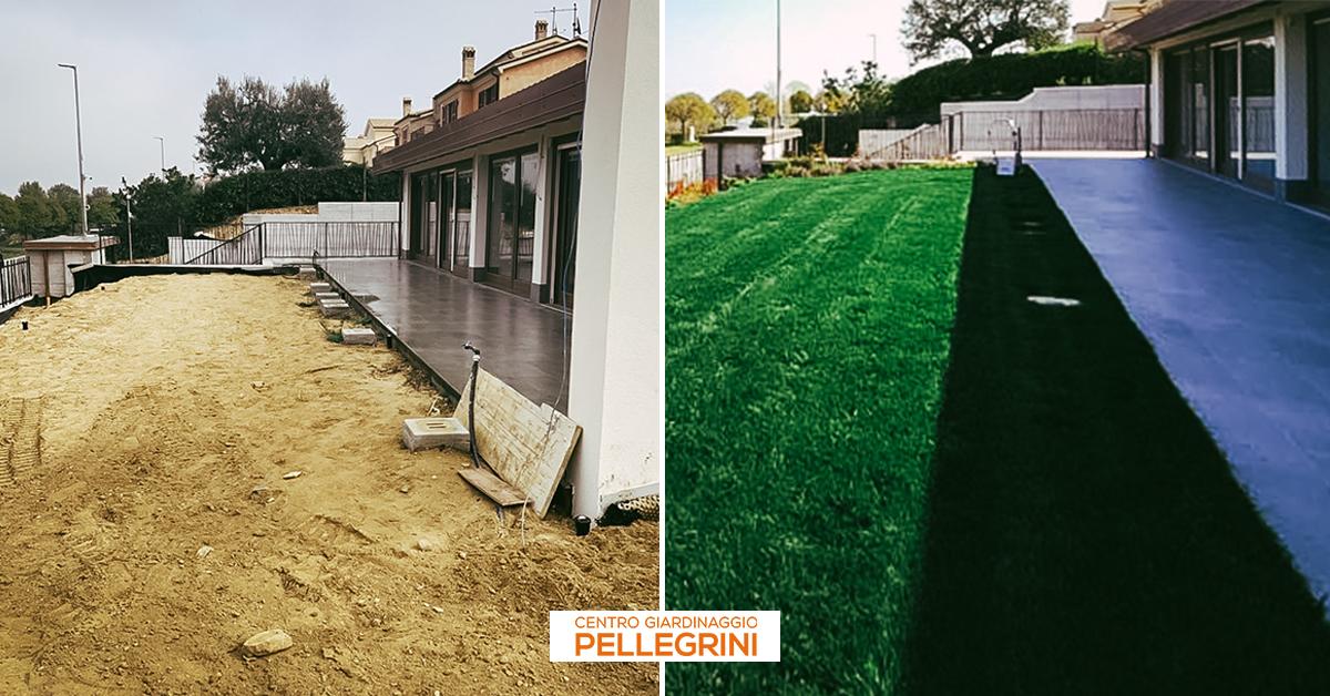 prato-a-zolle-realizzazione-Centro-Giardinaggio-Pellegrini-prima-dopo